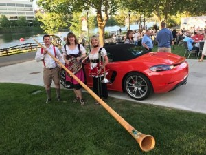 Porsche parade opening ceremony